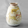 Guido Gambone ceramic vase with hand-painted antelope motif